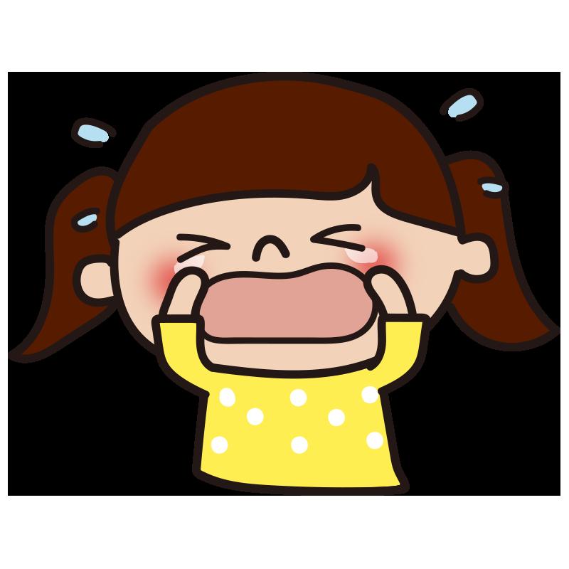 大泣きする女の子