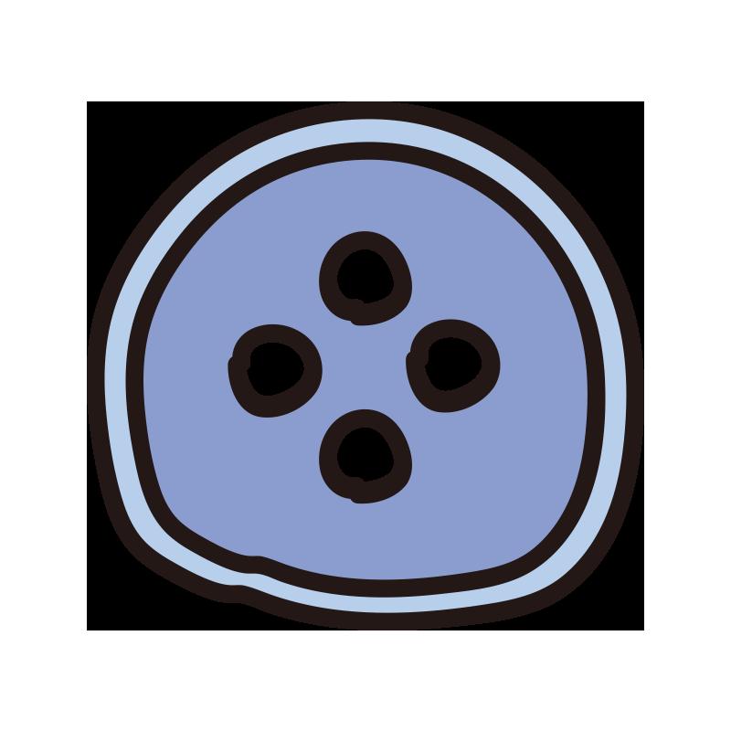 ボタン(青)