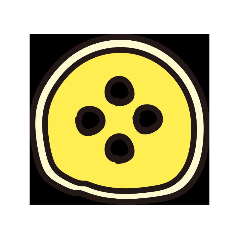 ボタン(黄)