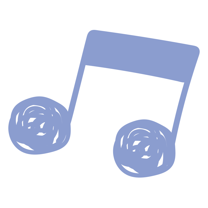 ぐるぐる音符(青)2