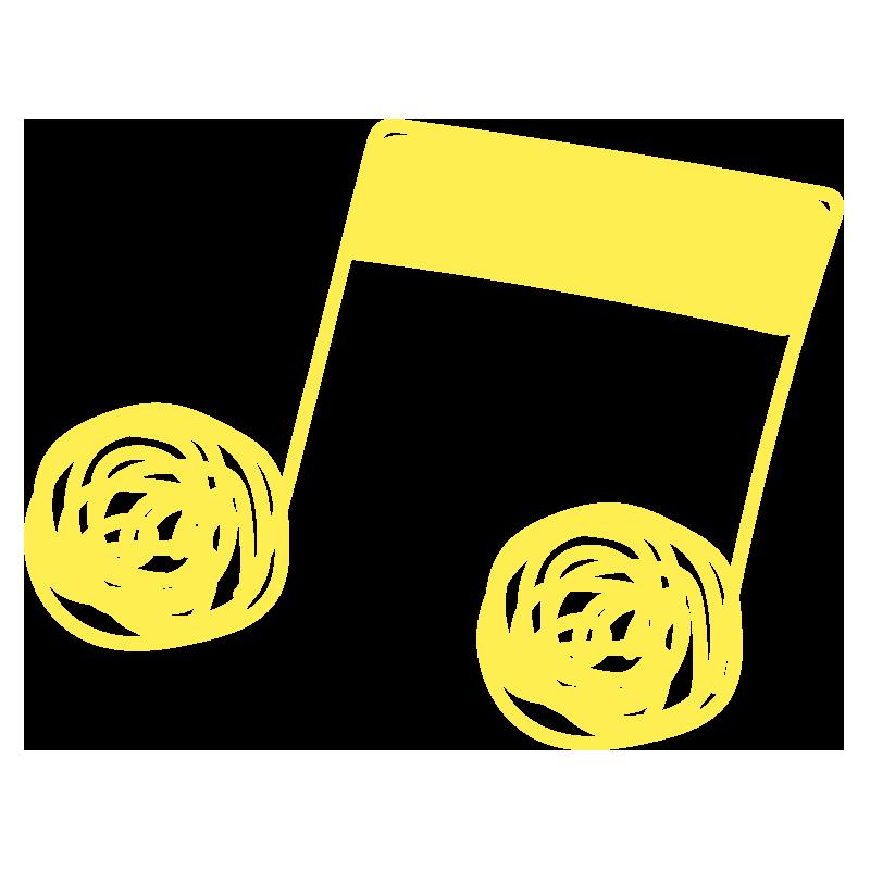 ぐるぐる音符(黄色)2