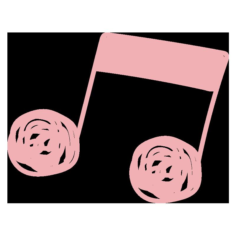 ぐるぐる音符(ピンク)2