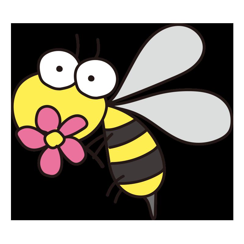 お花を持った蜂