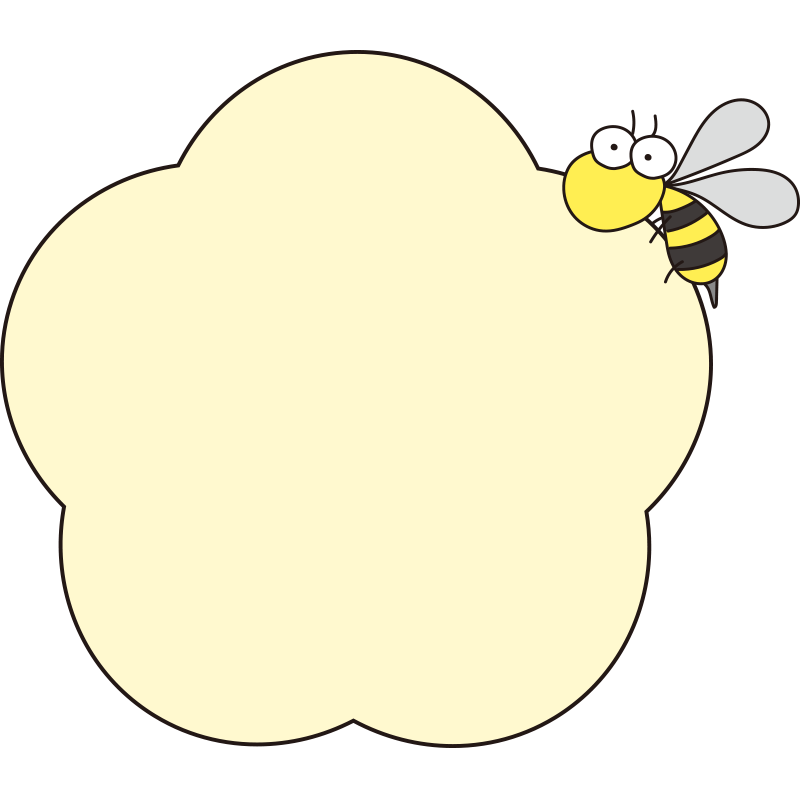 黄色いお花と蜂の枠