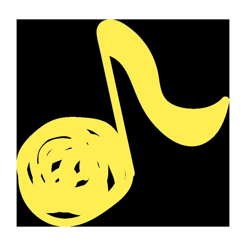 ぐるぐる音符(黄色)1