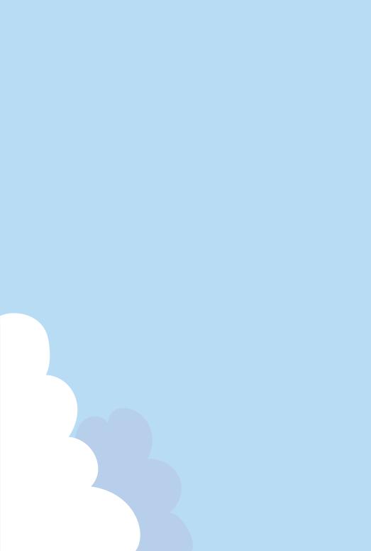 夏の空のフレーム(はがき縦)