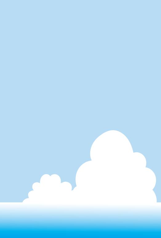 海と入道雲のフレーム(はがき縦)