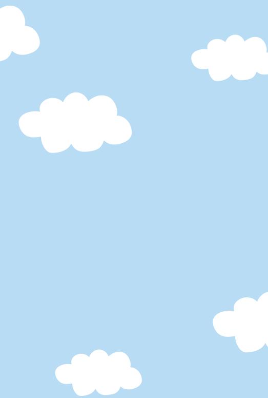 空と雲のフレーム2(はがき縦)