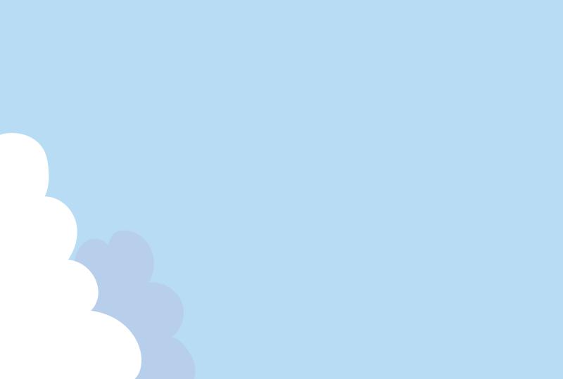 夏の空のフレーム(はがき横)