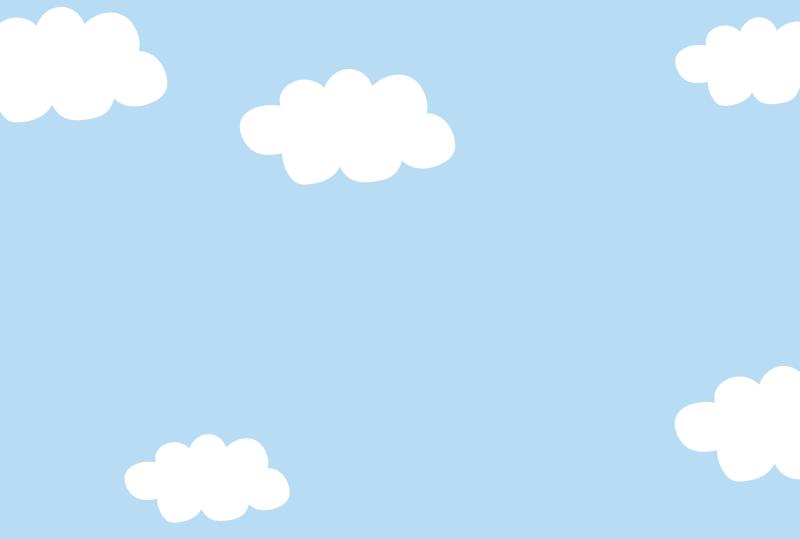 空と雲のフレーム2(はがき横)