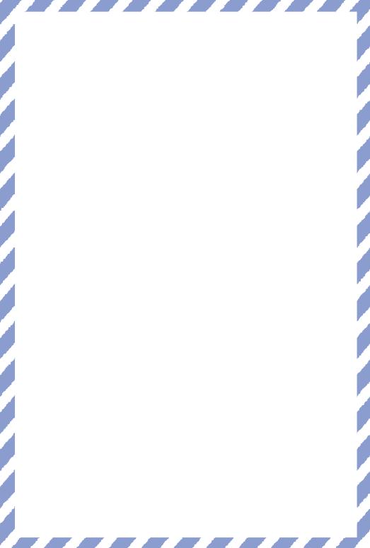 青いストライプの枠(はがき縦)