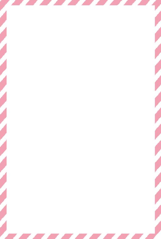 ピンクのストライプの枠(はがき縦)