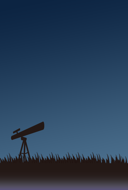 夜の天体観測(はがき縦)
