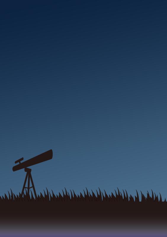 夜の天体観測(A4縦)