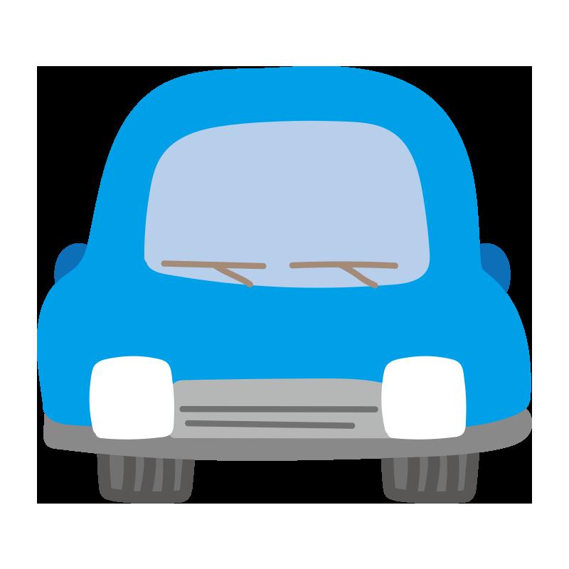 正面の車(青)