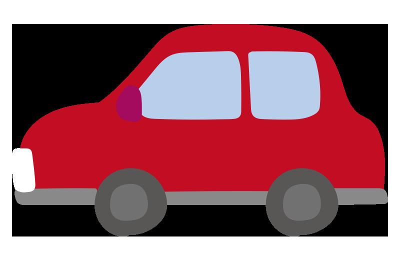 横向きの車(赤)