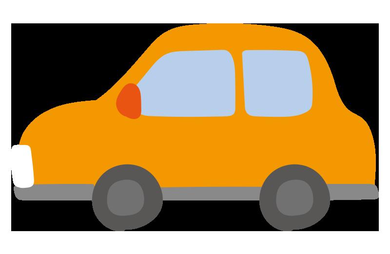 横向きの車(オレンジ)