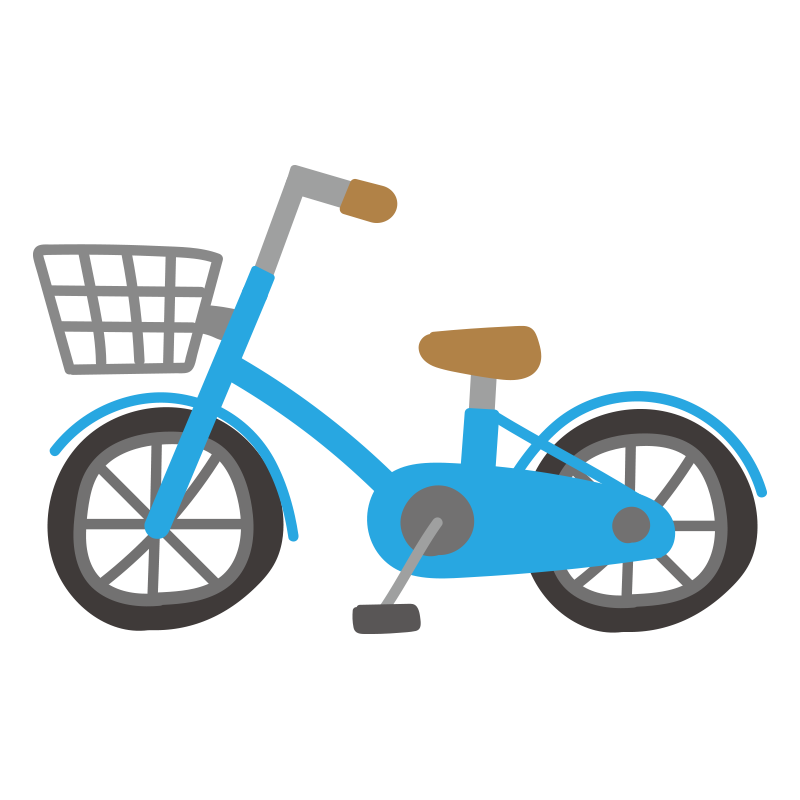 青い自転車