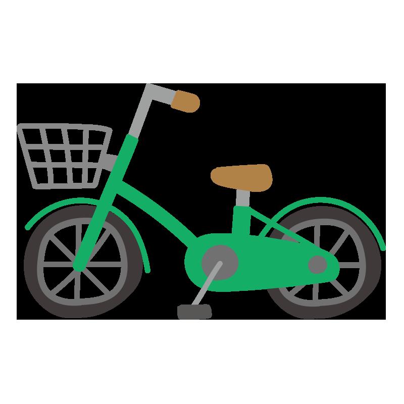 緑の自転車