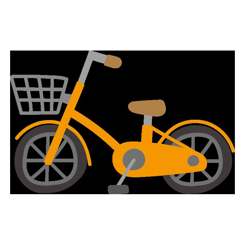 オレンジの自転車