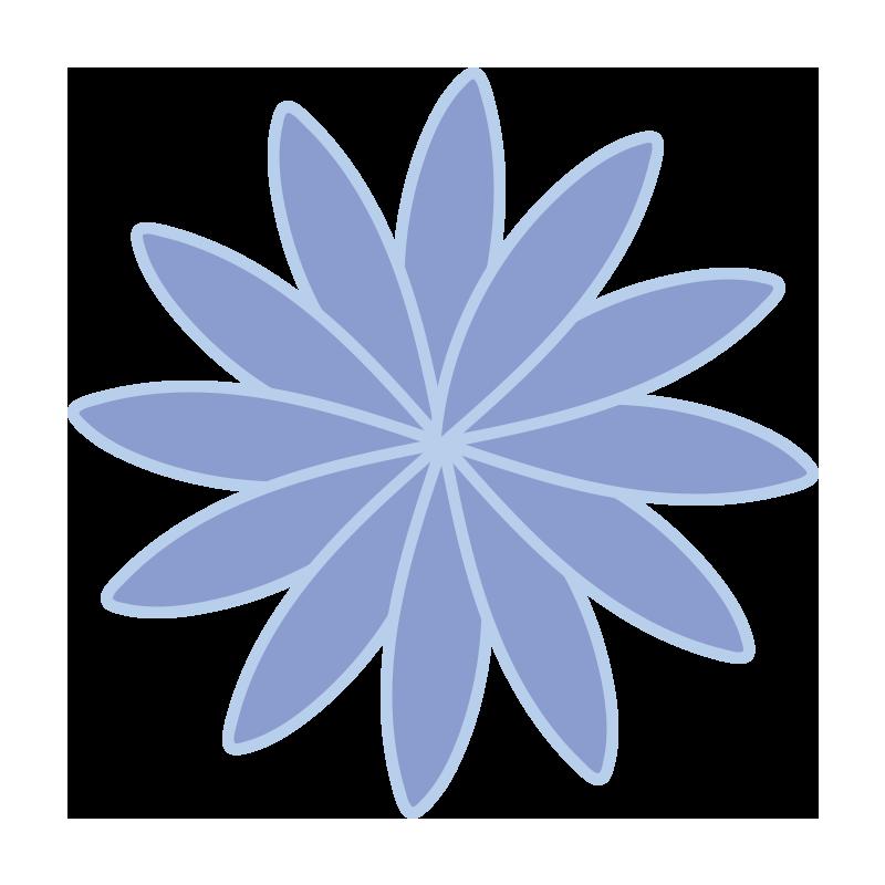 細い花びらの青いお花1