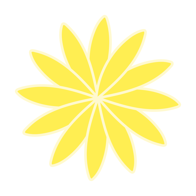 細い花びらの黄色いお花1