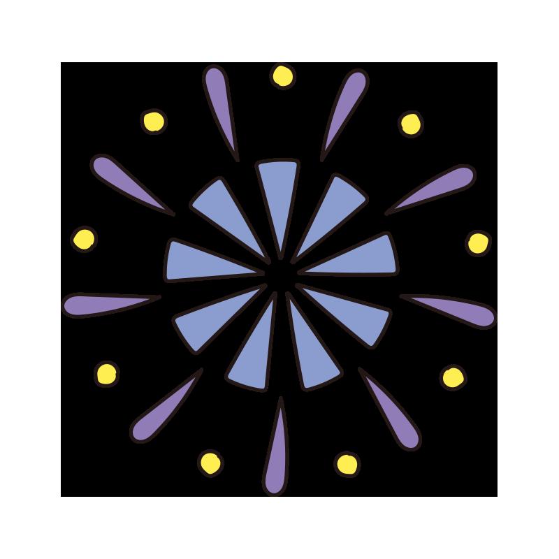 青い花火1