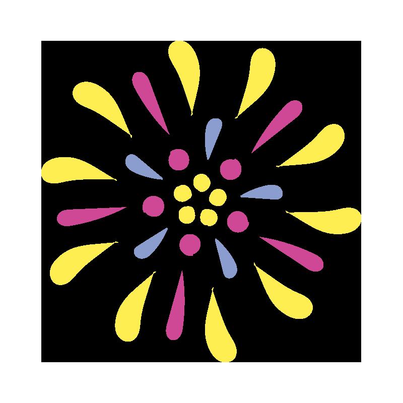 黄色い花火2