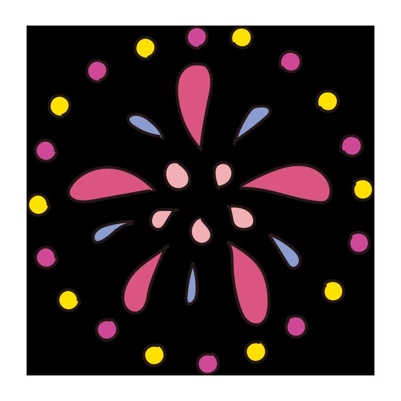 ピンクの花火1