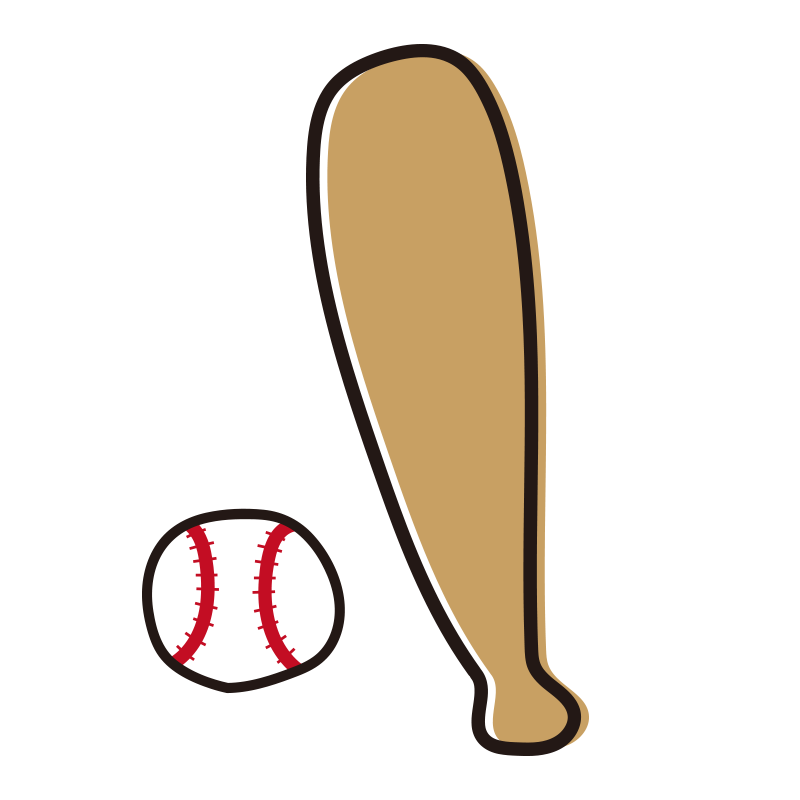 野球のバットとボール