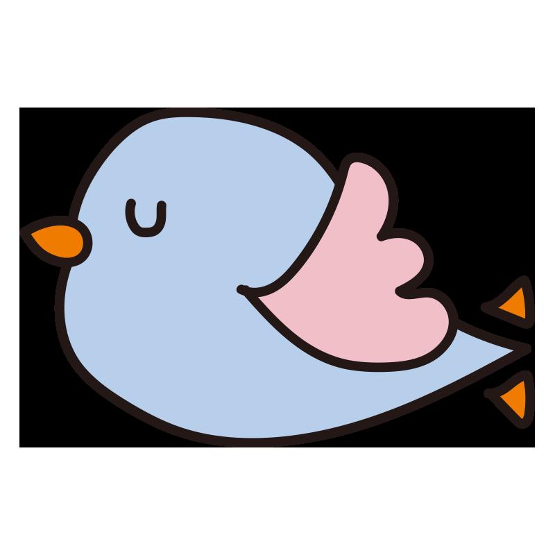 飛んでいる青い小鳥1