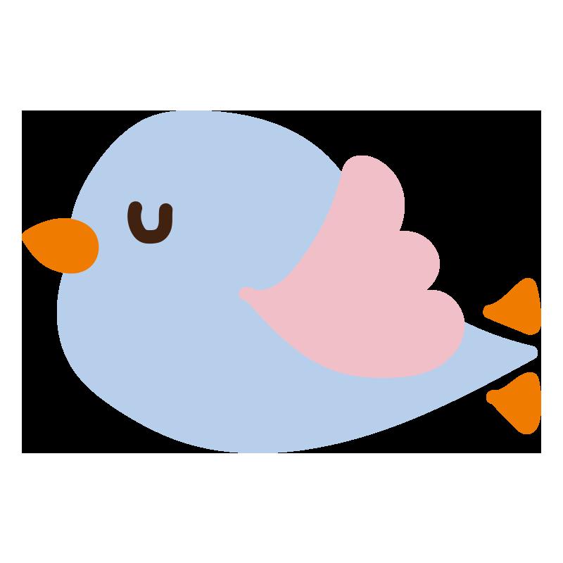 飛んでいる青い小鳥2