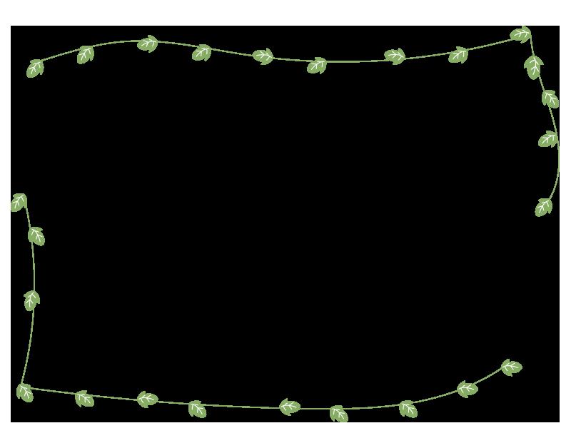 つるの葉の枠