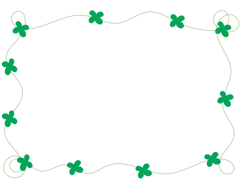 四葉のクローバーの枠