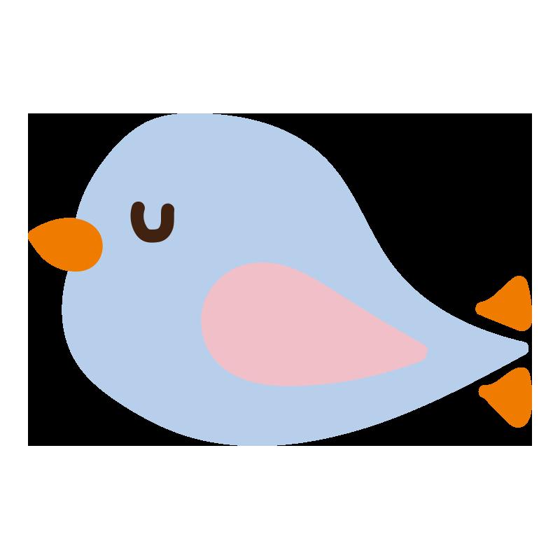 休んでいる青い鳥2