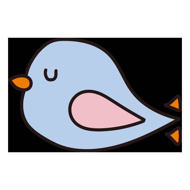 休んでいる青い小鳥1