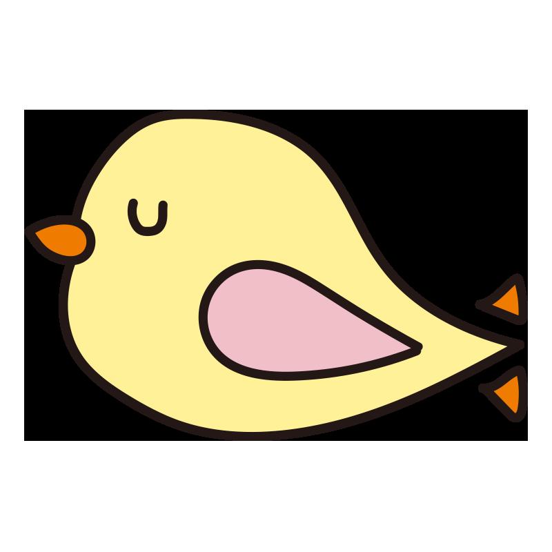 休んでいる黄色い小鳥1