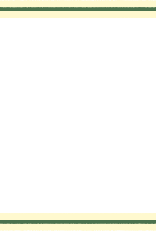 緑の上下の線(はがき縦)