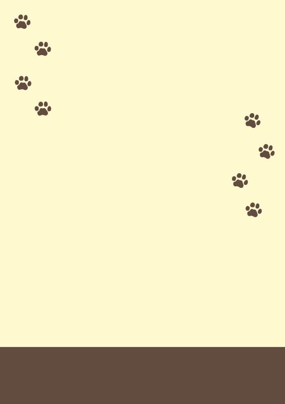猫の足跡テンプレート1(A4縦)