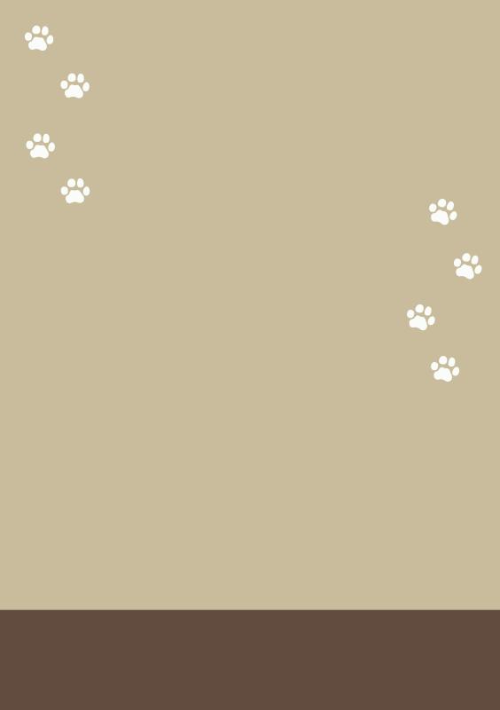 猫の足跡テンプレート2(A4縦)