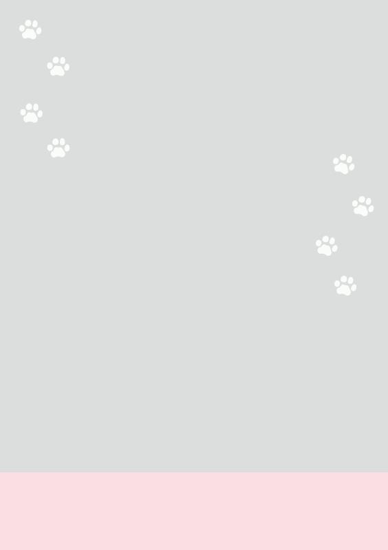 猫の足跡テンプレート3(A4縦)