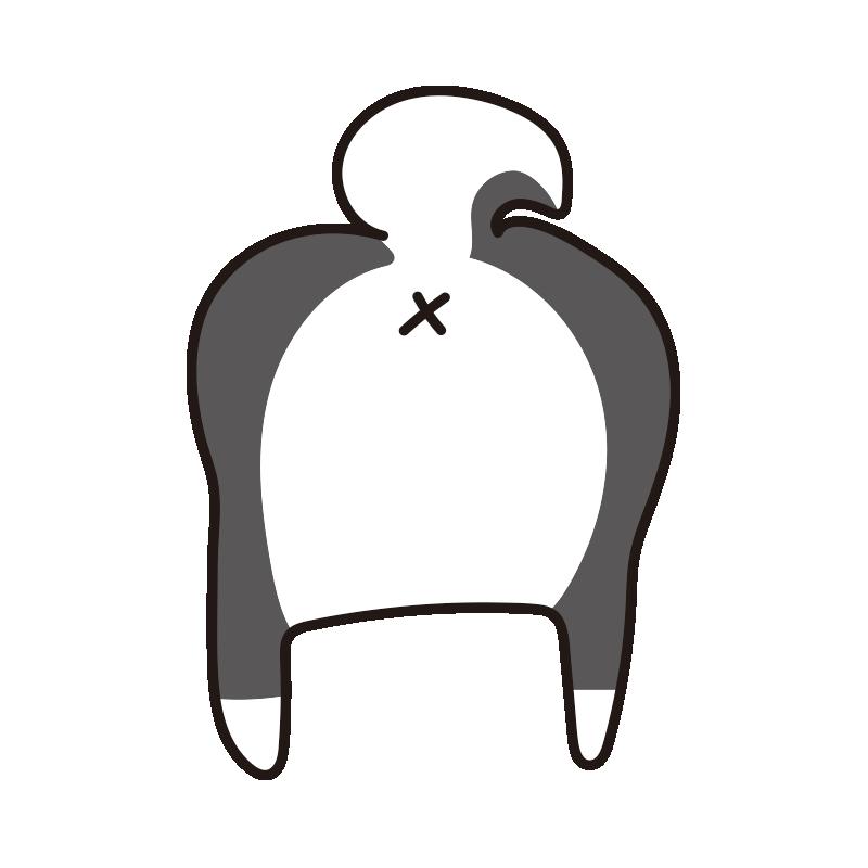 柴犬(黒)のおしり