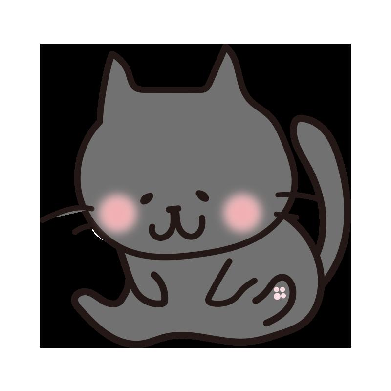 毛繕いする黒い猫