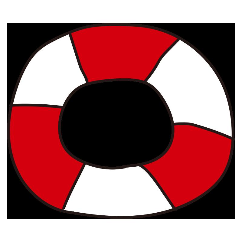 赤い浮き輪