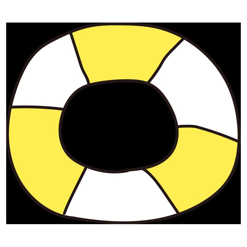 黄色い浮き輪