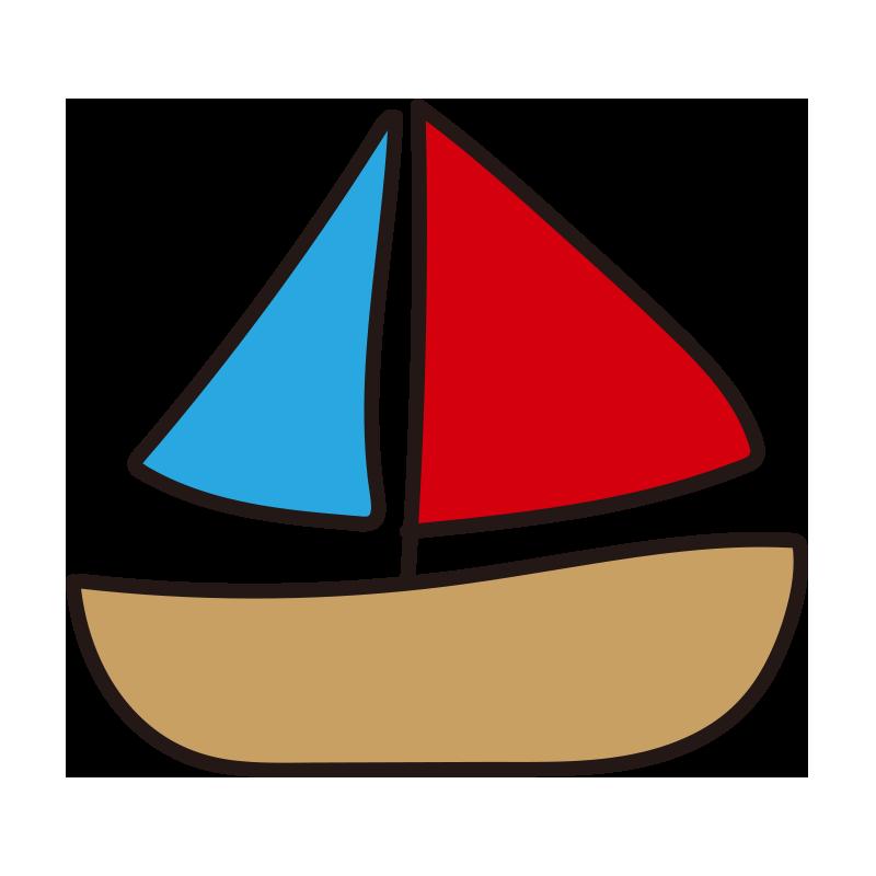 赤と青のヨット1