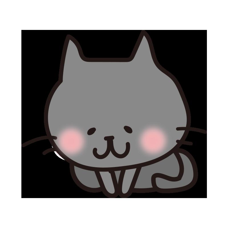 お辞儀する黒い猫
