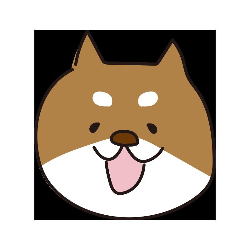 柴犬の顔(茶)