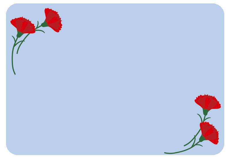 母の日のカード(青)