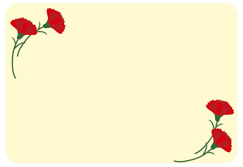 母の日のカード2(黄)